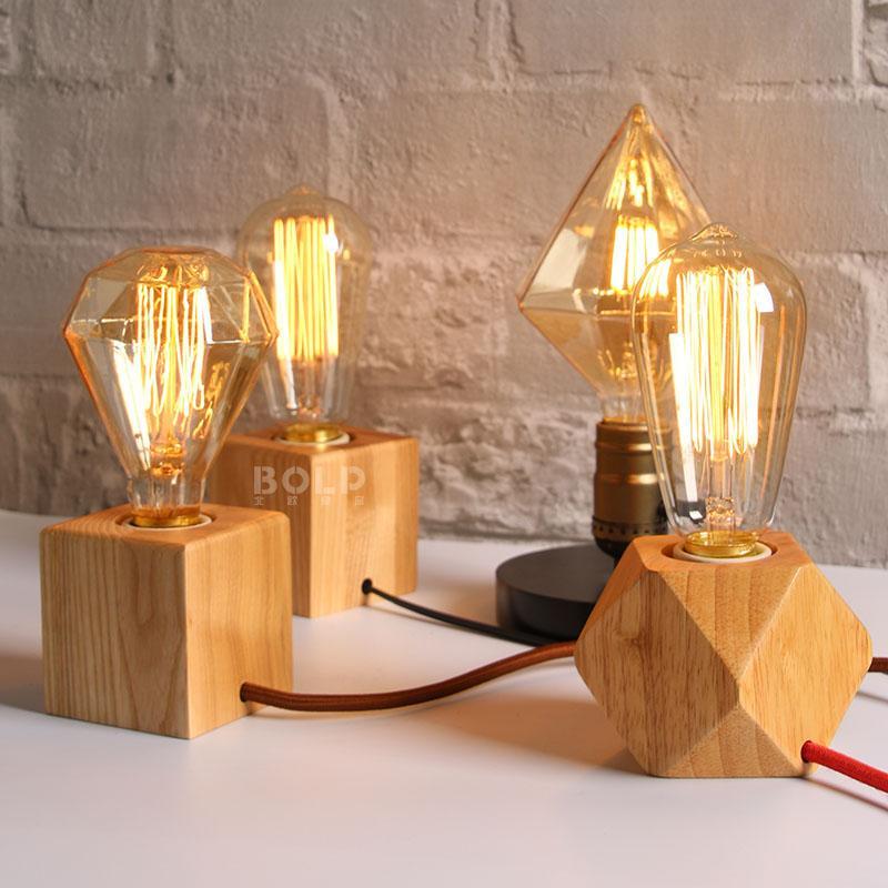 Novelty abajur retro Edison tungsten bulb lamp table lamp bedroom table decoration bedside lamp birthday gift Night light