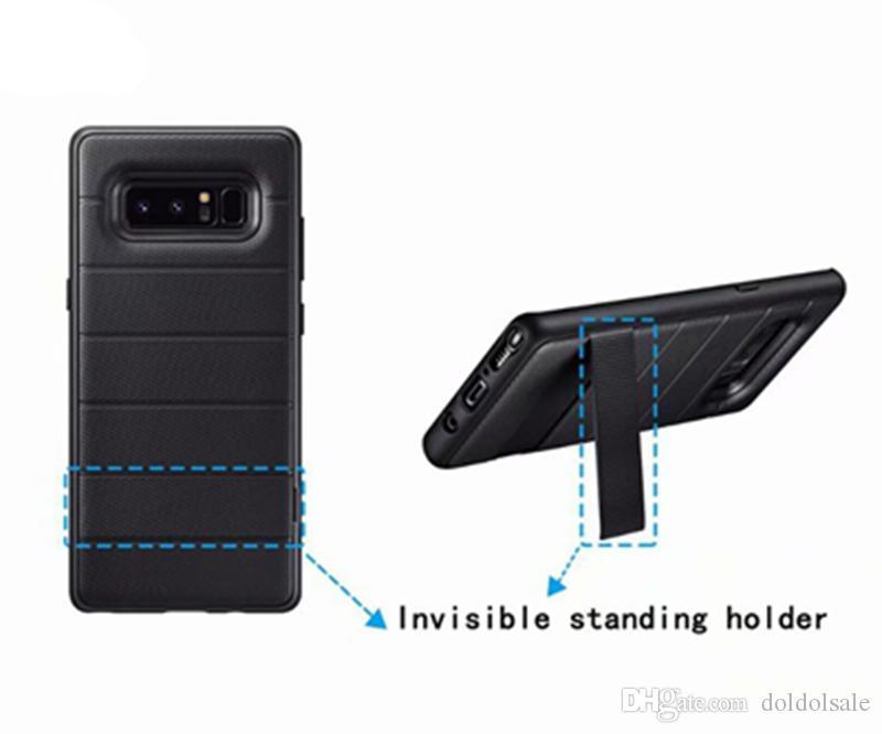 De Luxe TPU Cas de Couverture Arrière Stealth Bracket pour Samsung Galaxy Note 8 Cas de Téléphone