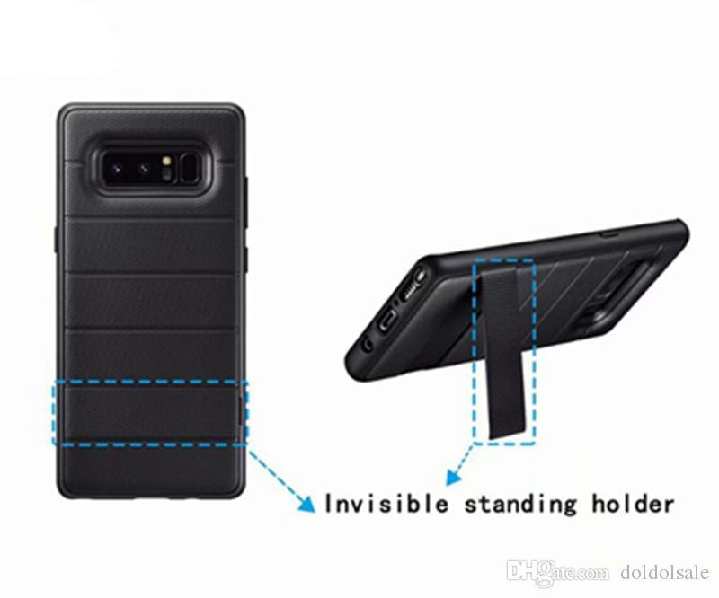 Luxury TPU Back Cover Case Stealth Bracket for Samsung Galaxy Note 8 Phone Cases