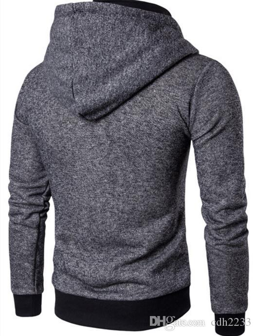 2018 new European and American men's stitching cardigan collar jacket trade men's sweater casual jacket
