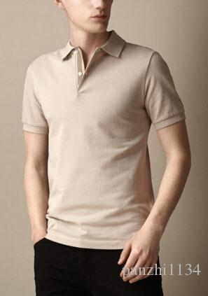 665b0a9c 2019 Western Solid Mens London Brit Polo Shirts Brand Cotton Short Sleeve  Camisas UK Polos Summer Lapel Male Polo Shirt Beige XXL From Panzhi1134, ...