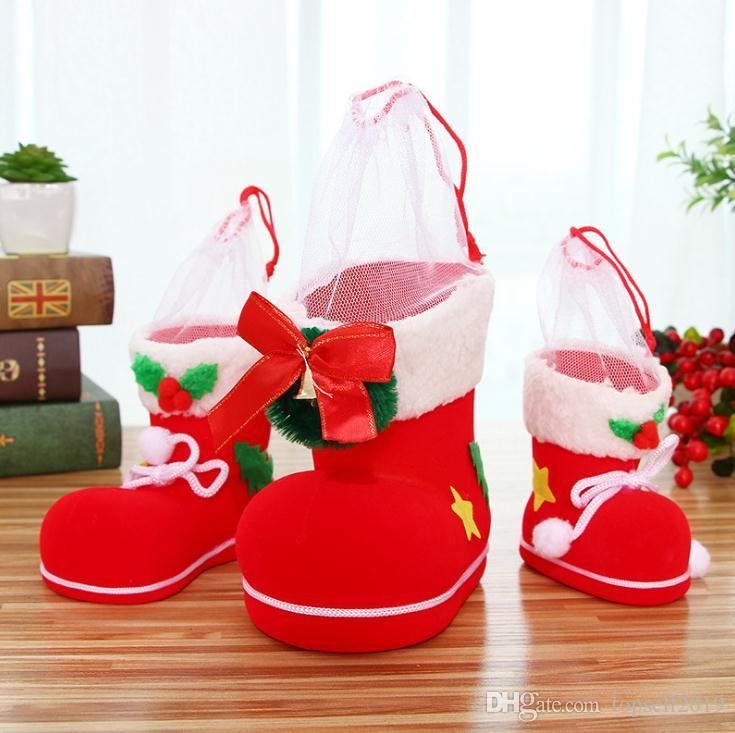 christmas gift bag elf spirit candy boot shoes stocking holders xmas party decoration drawstring filler bags pen holder holiday favor sn1428 christmas - Christmas Gift Catalogs