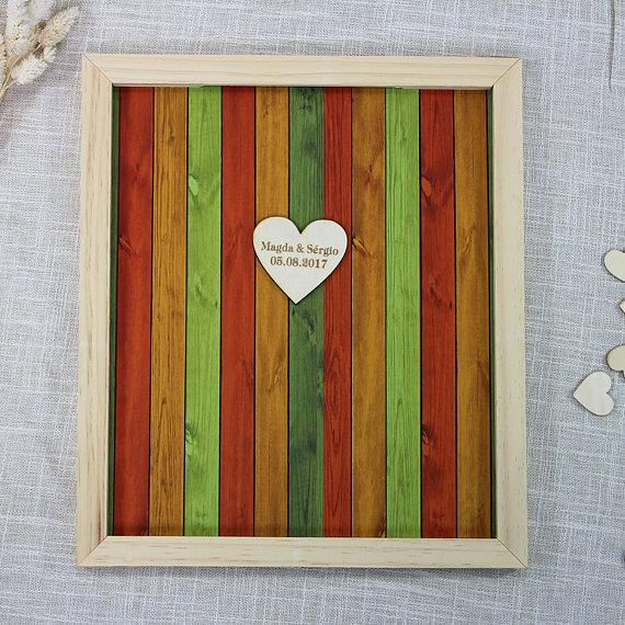personalized bridal shower guest bookheart guestbookwedding guest book alternatives drop box wood