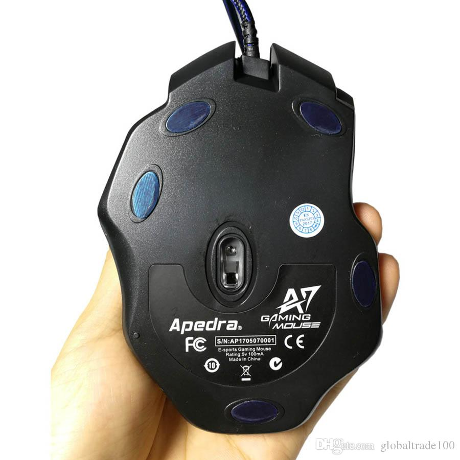 Professionelle USB Wired Gaming Mouse 7 Taste Makro Definition Optische Computer Maus Gamer Kabel Mäuse Für Laptop PC LOL CSGO Dota Apedra X7