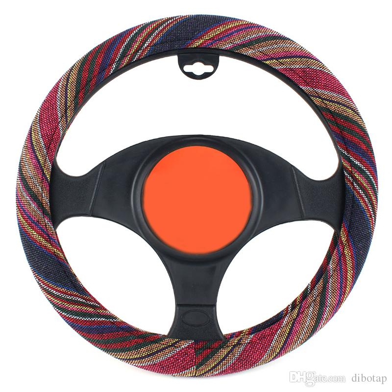 SUV Grey 38cm Pattern Silicon Skidproof Universal Auto Car Steering Wheel Cover