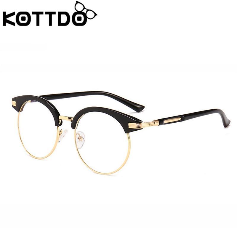 9fb0a8fa214 2019 KOTTDO 2018 Vintage Glasses Frame For Men Eyeglasses Cat Eye Glasses  Frames Women Reading Eyewear Accessrioes From Bojiban
