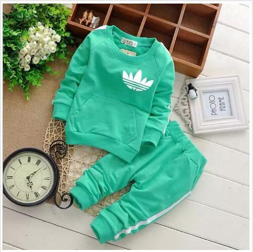 Heißer verkauf Marke Baby Trainingsanzüge Frühling Herbst Baby Mädchen Baumwolle Volle sleeved Jacket + pants 2 teile / sätze Jungen Kid Kleidung Set Baby Set