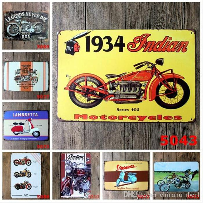 different themes beer garage warning Motor Vintage Craft Tin Sign Retro Metal Painting Poster Bar Pub Wall Art Sticker C014