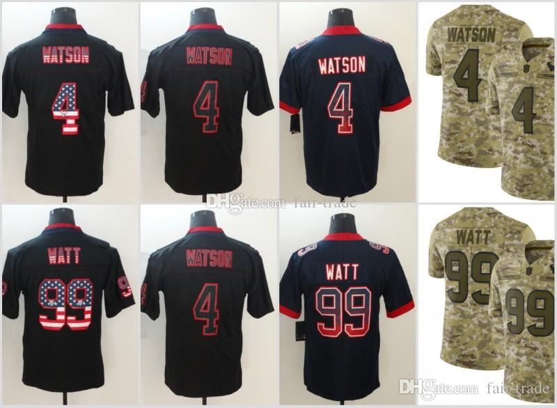 974d9eeb8d0 4 Deshaun Watson Houston Jerseys 99 J.J. Watt Texans 2018 USA Flag ...