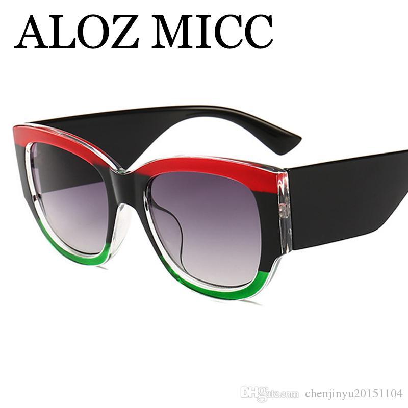 fa30b48df33c6 ALOZ MICC Luxury Crystal Cat Eye Sunglasses Women 2018 Brand ...