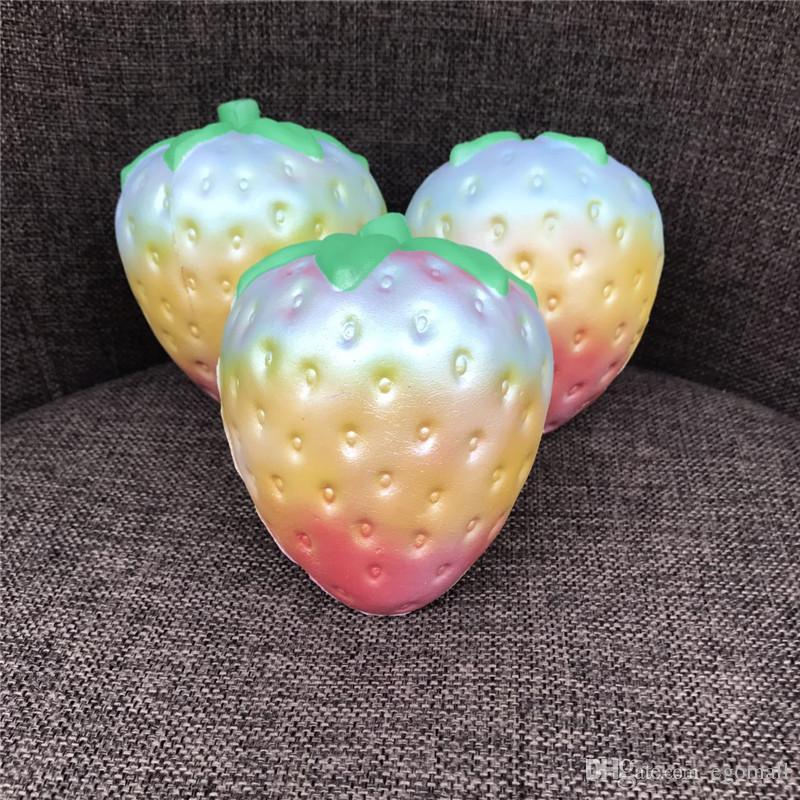 12 cm grande Colossal morango squishy jumbo simulação Fruit kawaii Artificial lento crescente squishies queeze brinquedos saco telefone charme