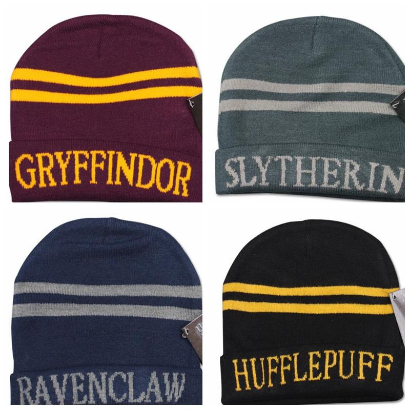 065275b7 8 Design Unisex Harry Potter College Beanie Winter Knit Hat Ravenclaw  Gryffindor Slytherin Hufflepuff Striped Beanies Cosplay Hat KKA2071 Ski Hats  Newborn ...