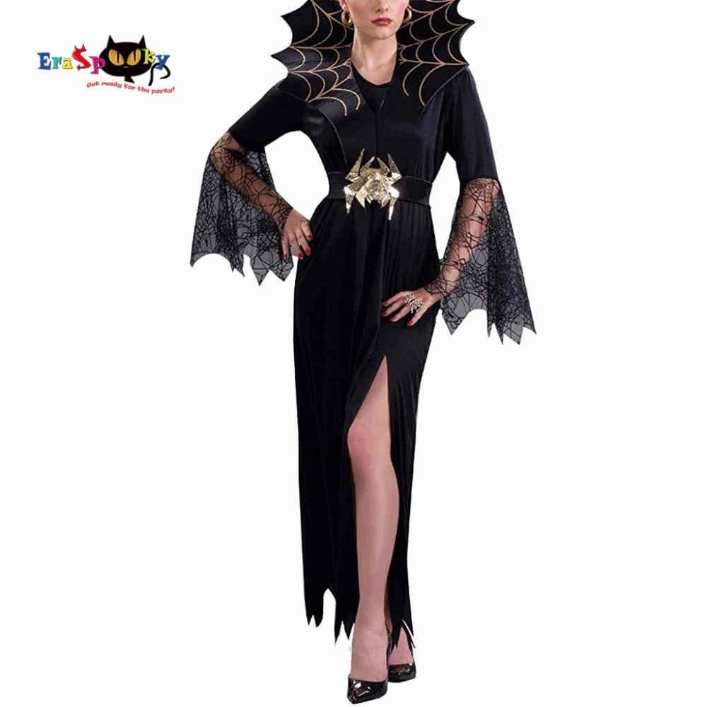 Acquista Costume Da Vampiro Donne Costume Da Strega Adulti Costume Gotico  Adulti Costume Cosplay Di Ragnatela Costume Di Carnevale Di Halloween A   28.44 Dal ... 52ccc1120717