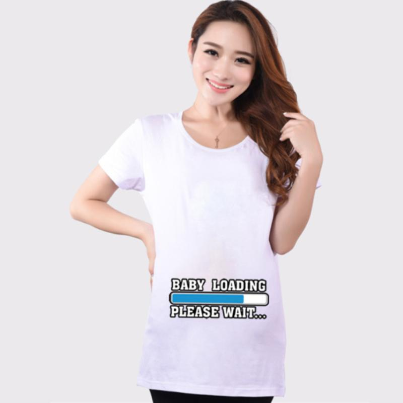 d9713899e50 2018 New Summer 27 Style White Maternity Funny Baby Tops Clothes for ...