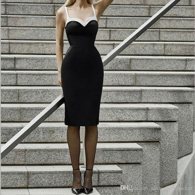 Blanc Slim Nouveau D Celebrity Femmes Soirée Club Gros Été Vestido En Patchwork Noir Dress Robes Bandage kPTwZiuOX
