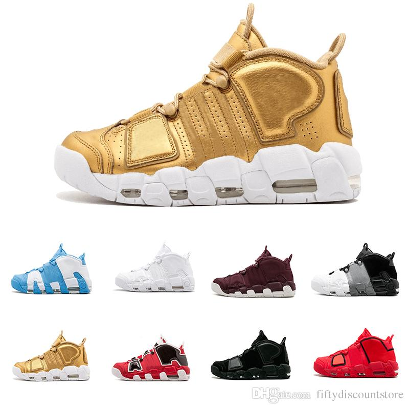 new style 72c39 52b83 2018 High Quality 96 QS Olympic Varsity Maroon Mens Basketball Shoes CHI  Black Gold Airs 3M Scottie Pippen Uptempo Sports Sneakers Eur 41 47 Carmelo  Anthony ...