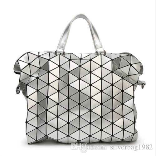 Geometric Sequin Bao Bao Women Handbag Quilted Laser Briefcase Laptop Bag New