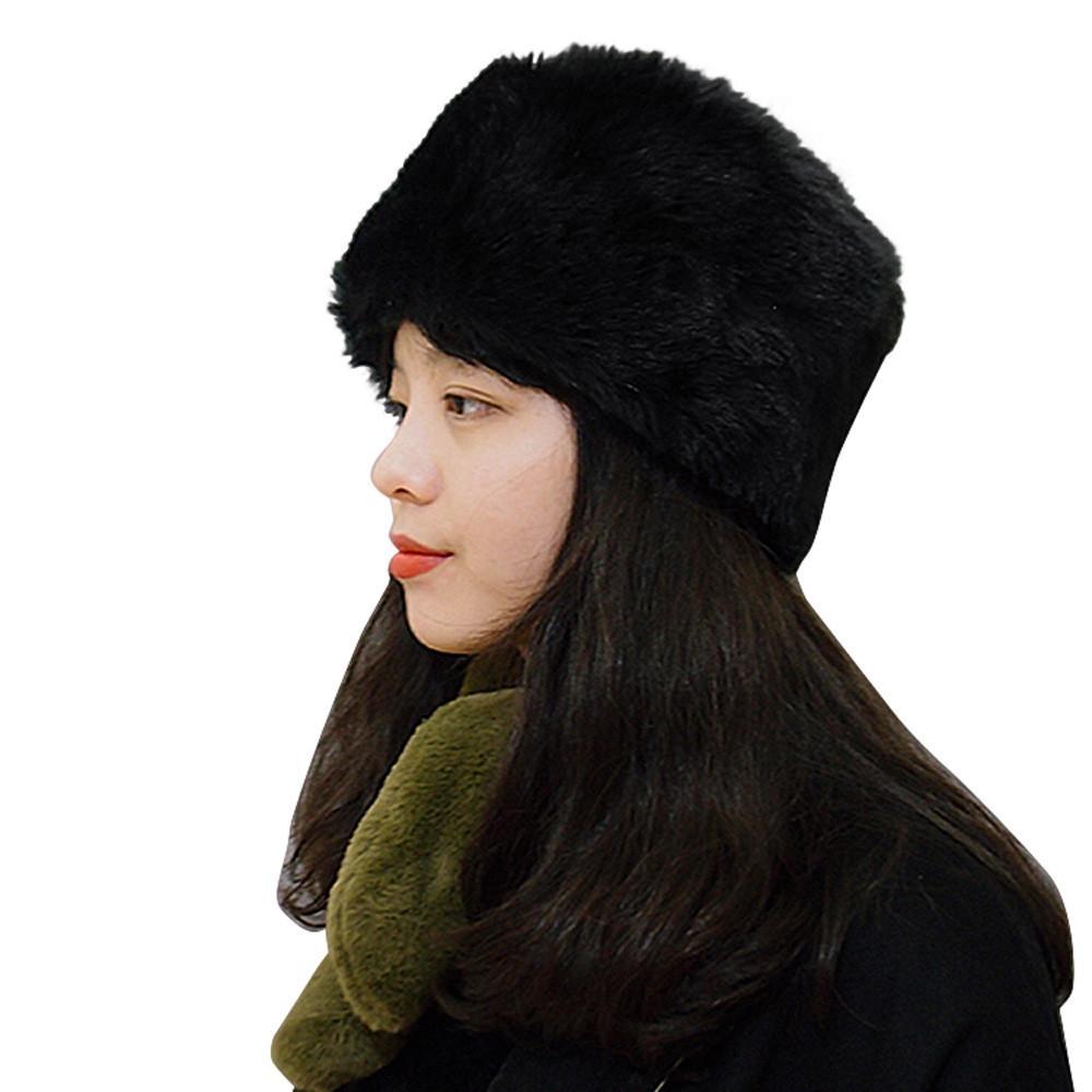 fa6aa36cbd9 Fashion Women Winter Hat Keep Warm Faux Fur Headgear Female Casual ...