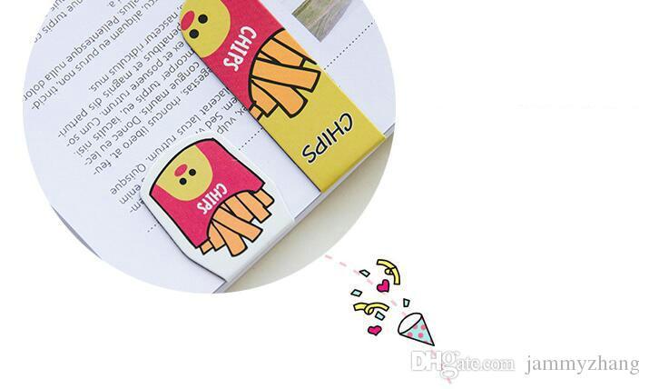 100 paquetes / pack Cute Magnet Bookmarks Paper Clip Materiales escolares de oficina Escolar Papelaria Gift Stationery