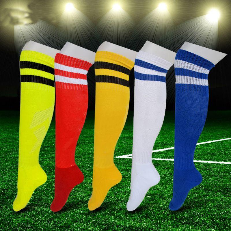 407a850c4335 2019 Outdoor Sports Stockings Adult Soccer Socks Men Women Kids Boy Girl  Football Socks Knee High Cotton Polyester Professional Training Sock From  ...