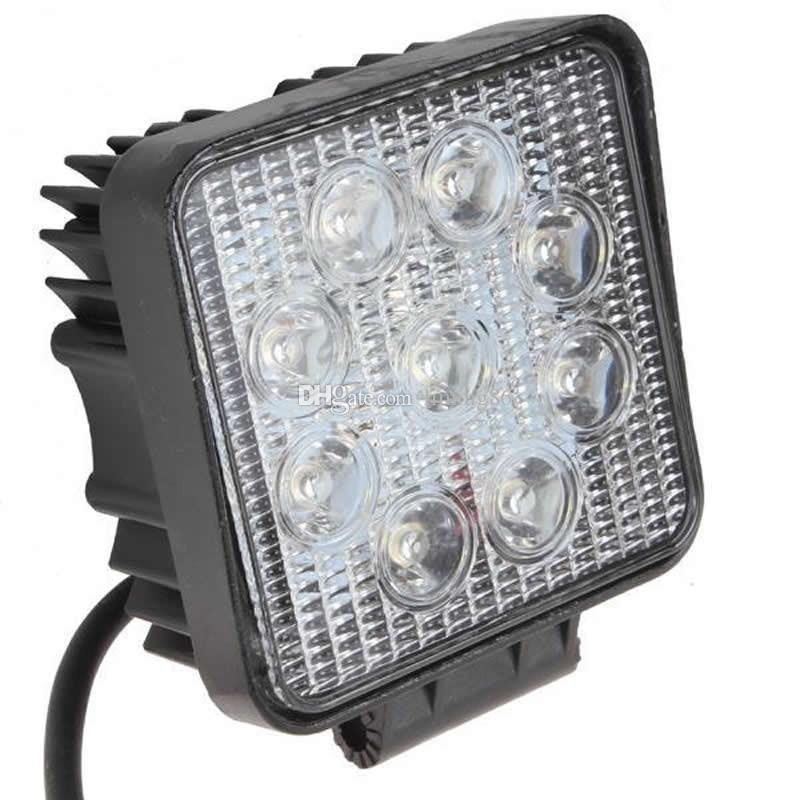 """4"""" inch 27W LED Working Light Flood Lamp Motorcycle Tractor Truck Trailer SUV JEEP Offroad LarcoLais with Video"""