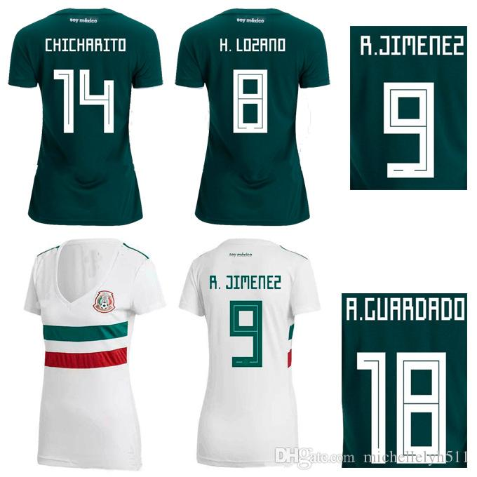 18 19 Mexico Women Soccer Jersey Ladys Top Thai Quality Football Shirts  2018 World Cup CHICHARITO LAYUN LOZANO DOS SANTOS Football Tops Wear UK  2019 From ... aa35c62ebc