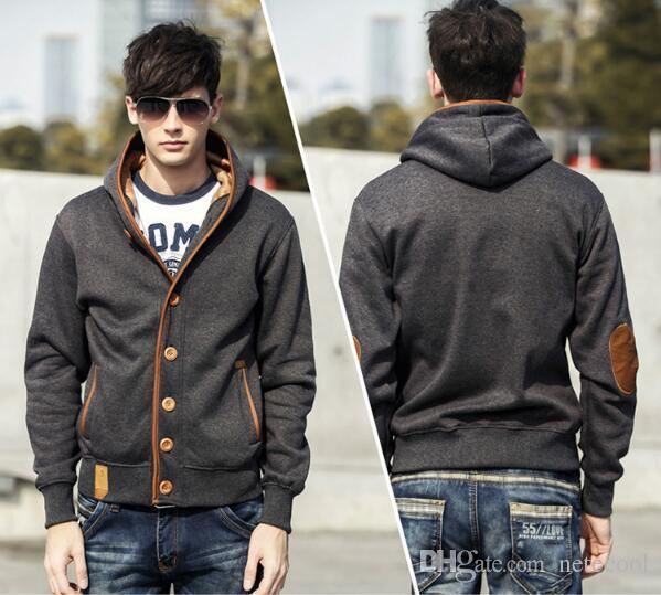 Fashion Men Sweatshirts Men Solid Color Hoodies Fashion Brand Mens Sweater Male Models Men's Jacket Hooded Sweater Jackets