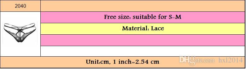 2018 ropa interior de las mujeres G-Strings ropa interior atractiva de la muchacha joven más las bragas del cordón del tamaño para las mujeres mayoristas Envío libre / porción # 2040