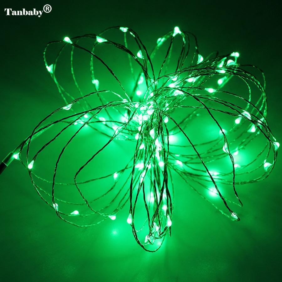 Noel ışıkları 8 Renkler 10 m 100 LED Bakır Tel LED Dize Işık Yıldızlı Işıklar + Güç Adaptörü İNGILTERE, ABD, AB, AU Fiş tatil ışıkları