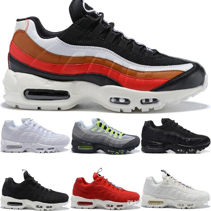 Nike air max 95 airmax 95 Herren Retro 95 OG Kissen Navy Sport Hochwertige Chaussure 95s Wanderschuhe Herren Laufschuhe Kissen 95 Sneakers Größe 36 46