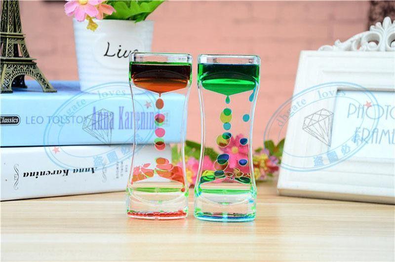 Украшения для дома День Рождения GiftFloating цвет Mix иллюзия жидкости движения визуальный тонкий масло стекло акриловые орнамент Бесплатная доставка GBN-021