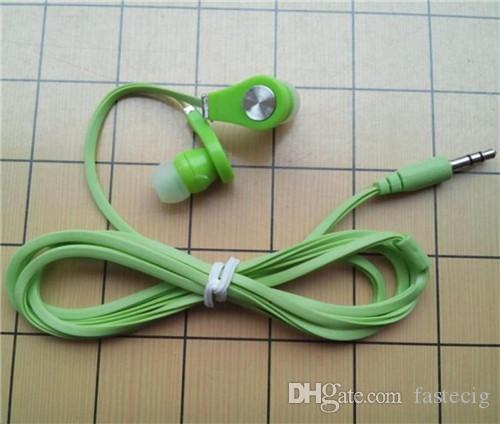 Hot cheap 3.5mm Earphones Headsets 1M noodle cable Good Quality Stereo Earbuds for cell phone MP3 MP4 DHL fast ship