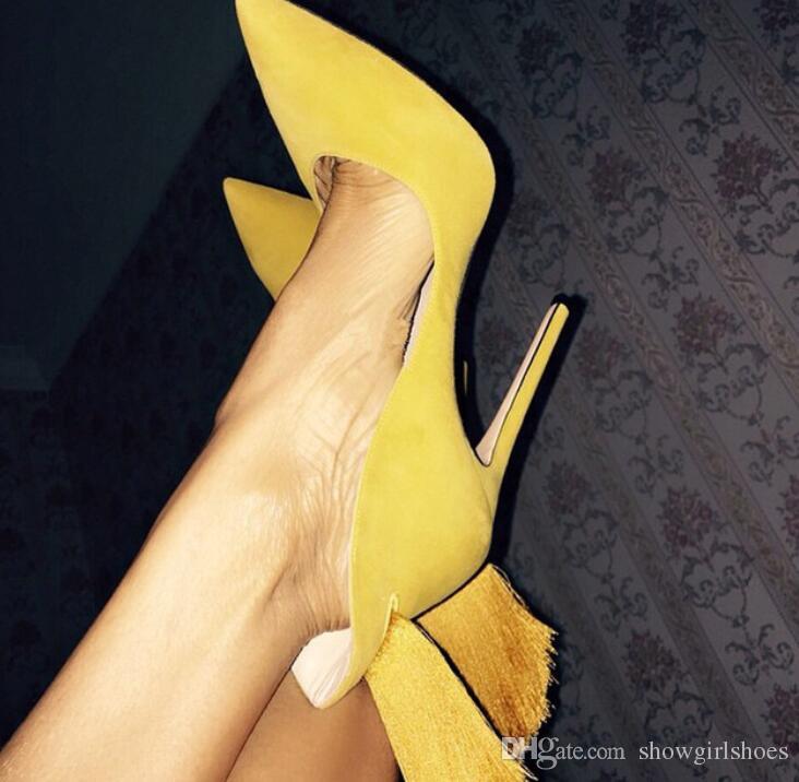 الأرجواني فو الجلد المدبوغ هامش أحذية عالية الكعب النساء وأشار اصبع القدم أحذية الزفاف كيم كارداشيان نمط المرأة مضخات