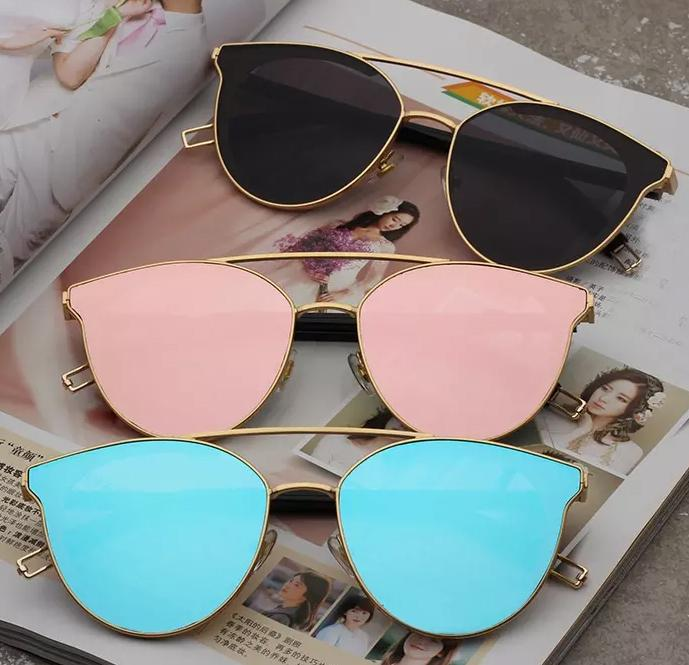 2df84886c Shades Fashion Sunglasses For Women Brand Designer Sun Glasses Ladies Rose  Gold Eyewear UV400 Mirror Lens Female Oculos #8566 Wholesale Cheap  Eyeglasses ...