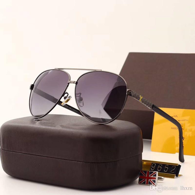 mens óculos escuros de grife para homens óculos mens óculos homens óculos de sol de luxo para óculos mulheres dos homens do desenhista vidros luxuosos de óculos de sol 9652