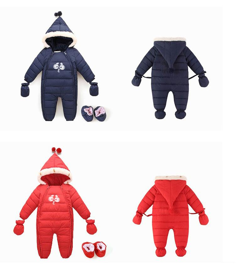 3a2ddf9860839 2018 New Down Cotton Baby Rompers Winter Thick Boys Costume Girls Warm  Infant Snowsuit Kid Jumpsuit Children Outerwear Baby Wear 0 18M From ...