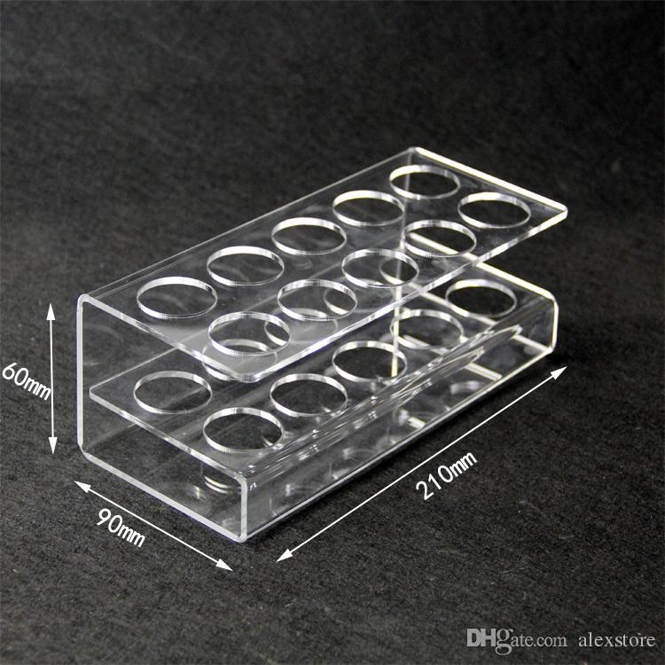 Vetrina acrilica trasparente supporto mensola vape rack vetrina bottiglie di plastica da 10 pezzi o 16 pezzi 60 ml e liquido eJuice DHL