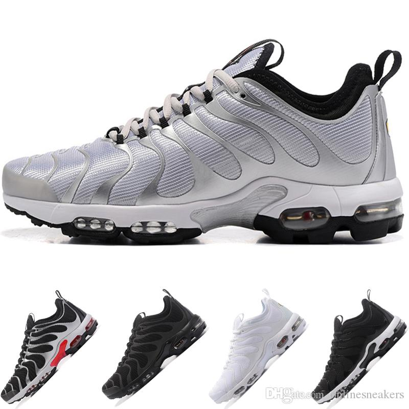 quality design b94ce ef950 Scarpe Da Walking Nike Air Max TN Plus Ultra Airmax Plus Tn Uomo Donna  Scarpe Da Corsa Ultra Triple Nero Bianco Argento Bullet Core Oreo Oro  Economici Mens ...