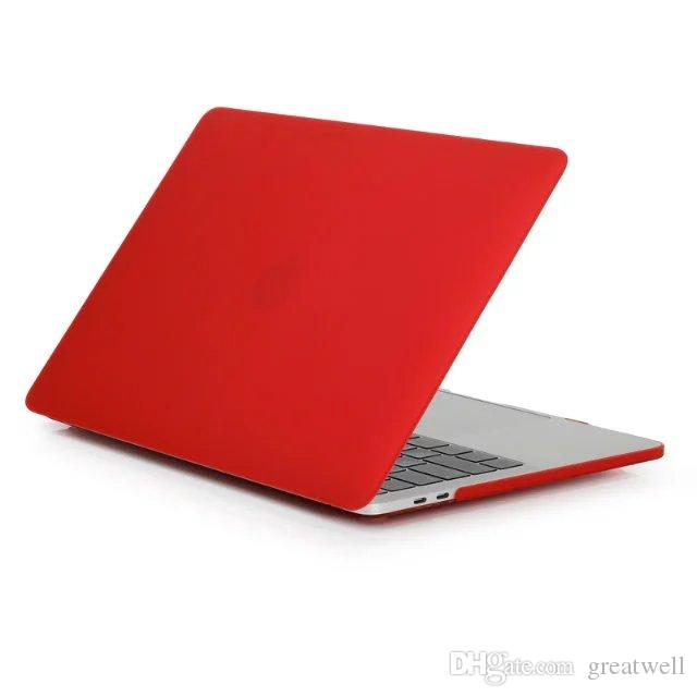 Для Macbook 11.6 12 13.3 15.4 Air Pro Retina Прорезиненный Матовый Жесткий Чехол Полный Защитный Чехол