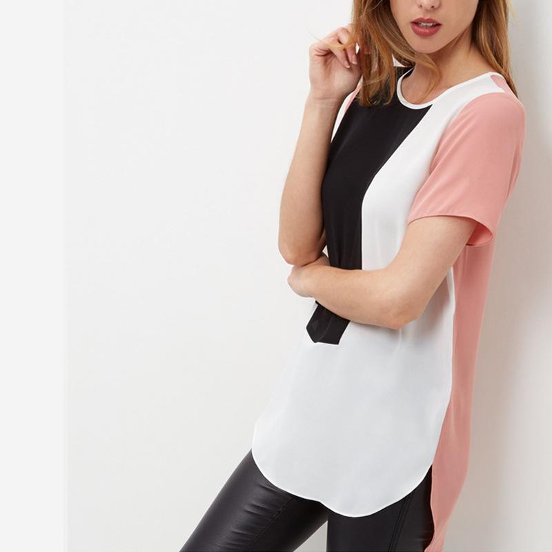 cb5311b228c35 6XL 2019 New Hot Summer Fashion Women Casual Long Chiffon Blouse ...