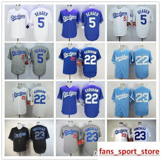 75fbd20e 2019 2019 Mens Dodgers 5 Corey Seager 22 Clayton Kershaw 100% Stitched  Baseball Jerseys Color Blue Gray White Black Size:S XXXL From  New_jersey_store, ...