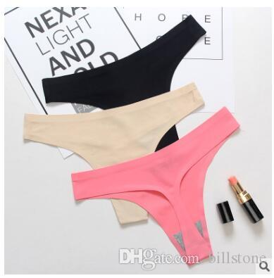 154ca30f99 2019 Women S G Strings Hot Sale Sexy Panties Ultra Thin Tanga Comfort Ice  Silk Lingerie Women Underwear Seamless Panties Briefs From Billstone
