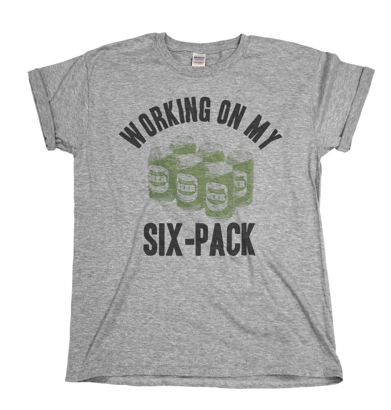 0e3c0c1fad2 Working On My Six Pack Funny Alcohol Gym Mens Ladies T Shirt Christmas Gift  Online T Shirt Buy Joke T Shirt From Rutmerch