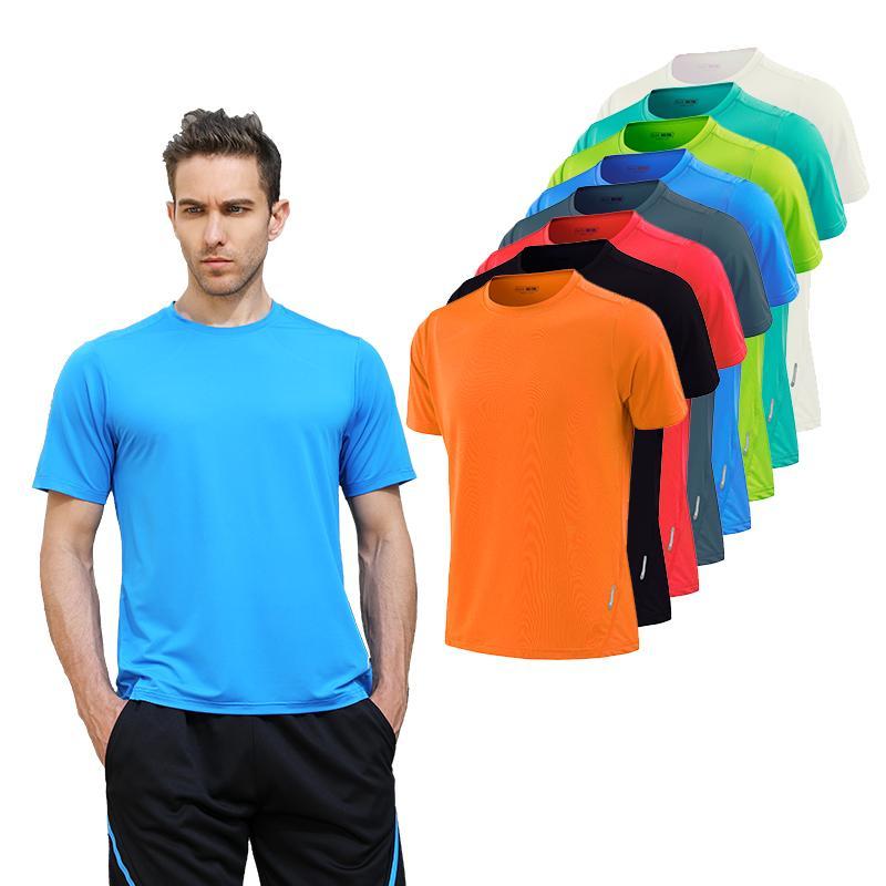 8b9c48cee36 Quick Dry Gym Shirt Men Summer Women s Sportswear Running T-shirts Sport  Female Tops Jogging Tops Loose Training Short Sleeves
