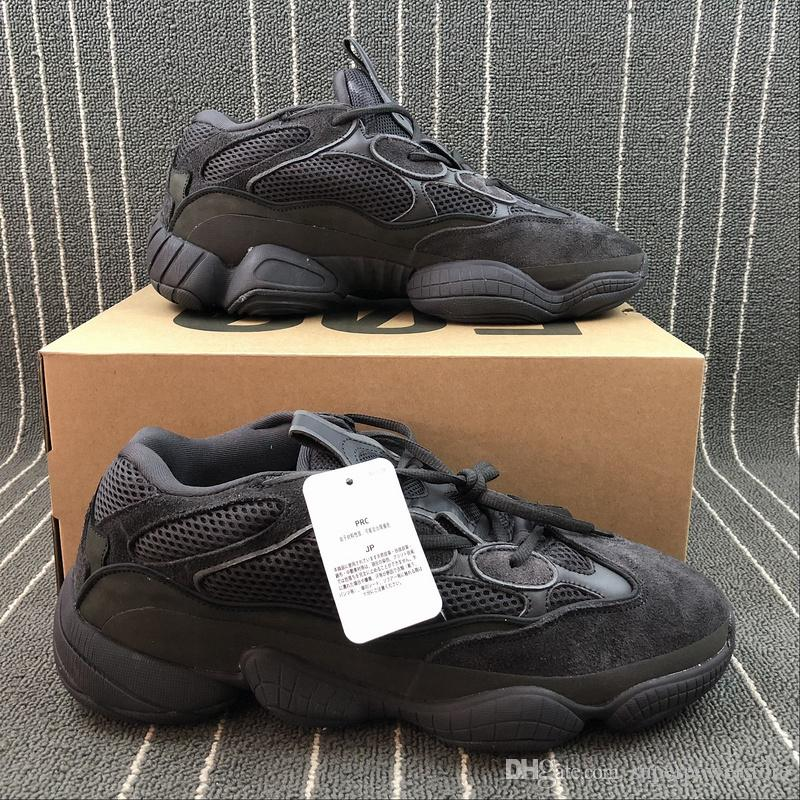 Adidas Yeezy 500 Kanye West Desert Rat Super Moon Yellow Db2966 Blush Db2908 Utility Black F36640 Women Men Running Shoes Sports Sneakers Mens Trail Running ...