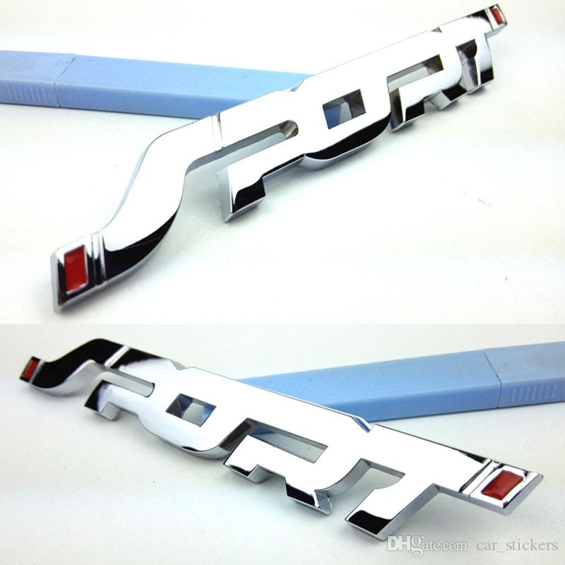 3D Metal Chrome Esporte Emblema LOGOTIPO Do Emblema Da Cauda Tronco Decalque Do Carro-styling Para Ford Novo Mondeo Focus Fiesta