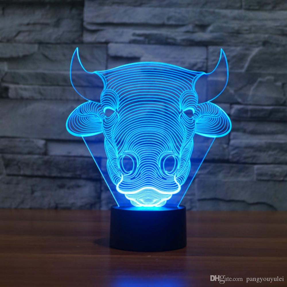 Lights & Lighting Led Lamps The Cheapest Price 3d Bull Lamp 7 Colors Change Touch Table Lamp Baby Sleeping Lamp Home Decor Light Desk Light Creative Gifts Cartoon Animal