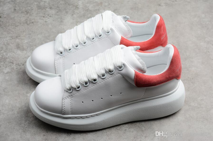 2018 Nuevos zapatos casuales para mujer Zapatillas de deporte Diseñador Formadores rojo gril moda caliente venta de marca tamaño 35-43