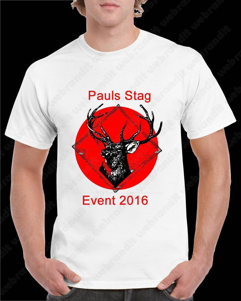 A3 A4 Printed T Shirt Personalised Any Image Photo Text Stag Do Hen