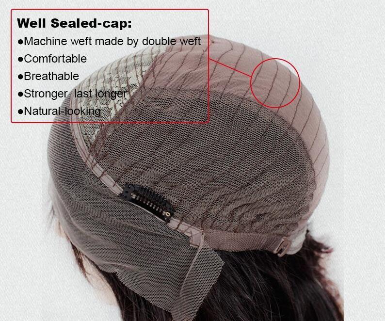 Short Silky Straight Cut Bob Full Lace Human Hair Wigs With Bangs Virgin Peruvian Hair Lace Front Bob Wigs For Black Women